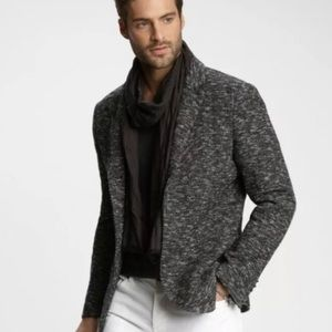 John Varvatos Knit Hook & Eye Jacket
